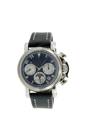 chronograph: Rich silver chronograph watch
