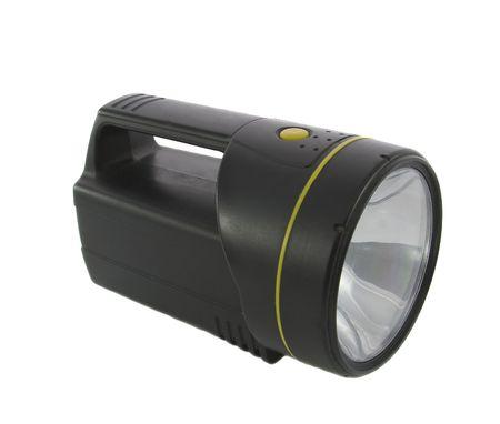 Black flashlight isolated on the white background Stock Photo - 4972569