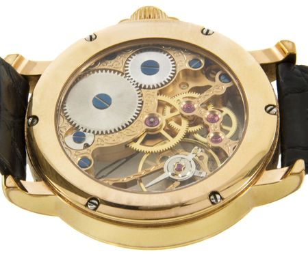 cronografo: Primer plano de oro rica en Suiza, el cron�grafo Foto de archivo