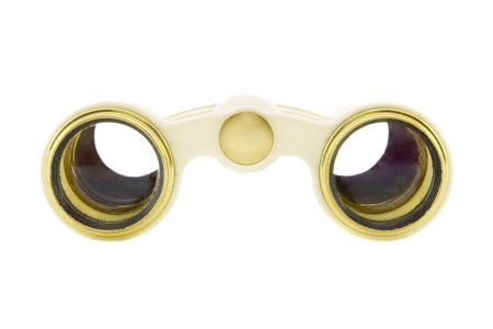 Old opera glasses isolated over white background Stock Photo - 4989569