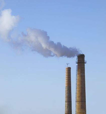 Scary Image of Power Plant emissions Stock Photo - 4989536