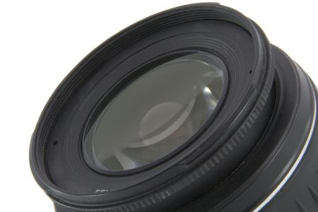 Camera lens macro shooting isolated on white background Stock Photo - 5095262