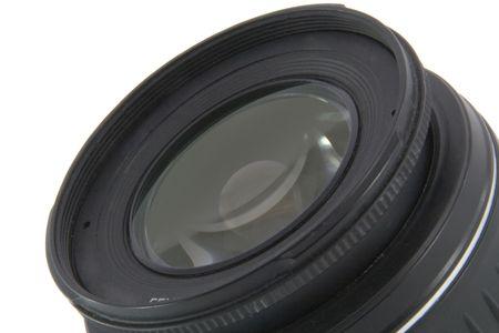 Camera lens macro shooting isolated on white background Stock Photo - 5095262