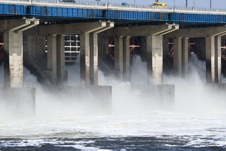 Reset of water on hidroelectric power station