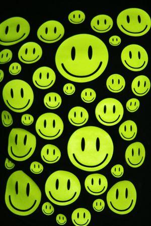 Many happy smiles over black background Stock Photo - 5518933