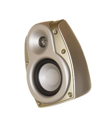 Gold acoustic system isolated over white  Stock Photo - 5551170