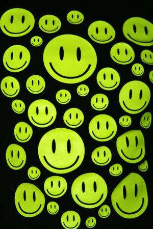 Many happy smiles over black background Stock Photo - 5551206