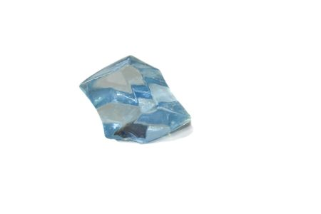 Blue crystal isolated over white photo