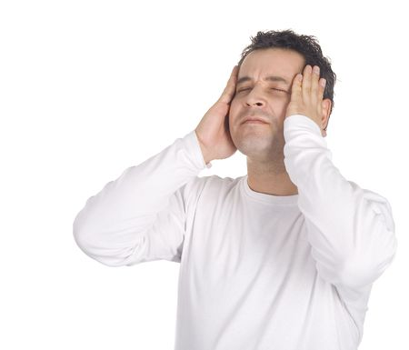 Portrait of a young man with a headache Stock Photo - 6054590