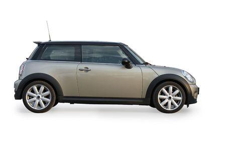 Fashion car isolated on white background.