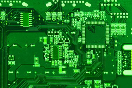 Close-up circuit board background Stock Photo - 6390780
