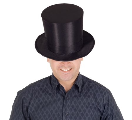 Brightly pictures of cheerful man in top hat (cylinder) Stock Photo - 6649702
