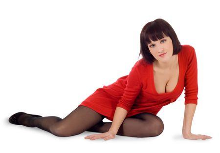 Beautiful brunette girl posing in studio  Stock Photo - 6860937