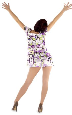 picture of sexy backside brunette over white background Stock Photo - 6861191