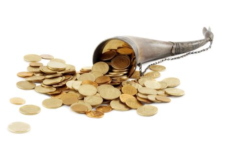 fullness: Cornucopia bone full of gold coin