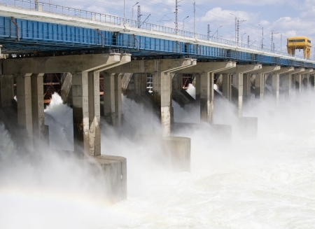 hydro: Reset of water at hydroelectric power station on the river