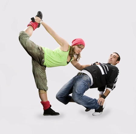 hip hop man: Teenagers dancing breakdance in action