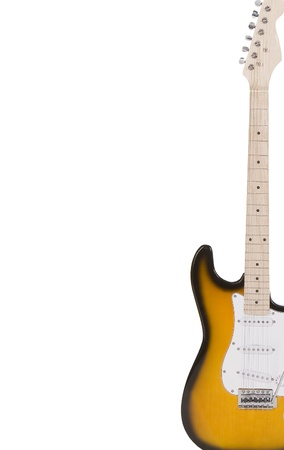 Electric guitar isolated on white photo