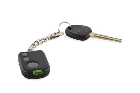 Car alarm system isolated over white   photo