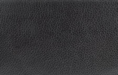 macro image: black leather texture. Stock Photo