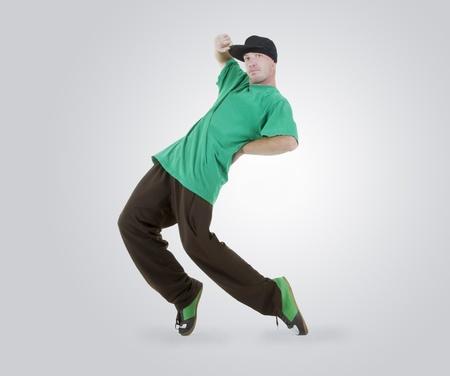 Teenager dancing breakdance in action Stock Photo - 10072559