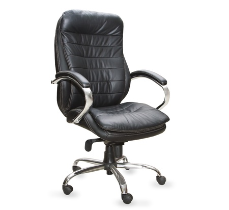 the black office chair on white background Stock Photo - 10103257