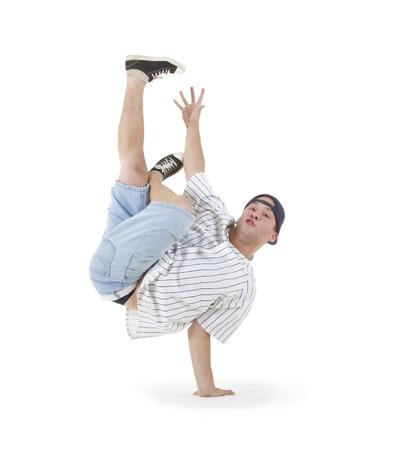 Teenager dancing breakdance in action Stock Photo - 10103240