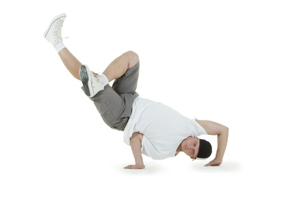 Teenager dancing breakdance in action Stock Photo - 10103237