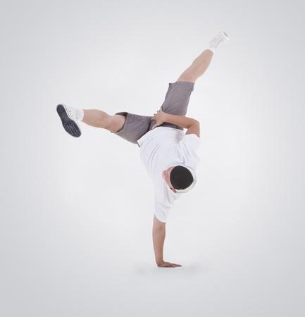 Teenager dancing breakdance in action Stock Photo - 10197364