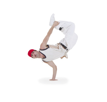 Teenager dancing breakdance in action Stock Photo - 10197257