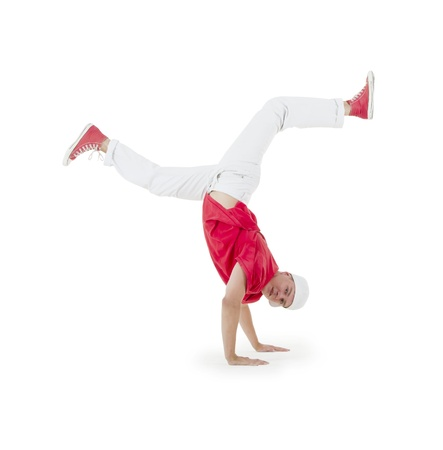 Teenager dancing breakdance in action Stock Photo - 10197229