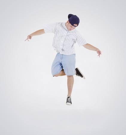 Teenager dancing breakdance in action Stock Photo - 10197387