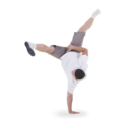 Teenager dancing breakdance in action Stock Photo - 10787615
