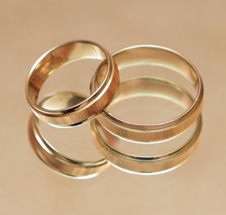 Two wedding rings Stock Photo - 10881254