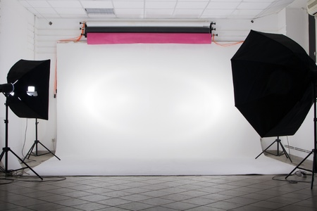reflectors: The studio Stock Photo