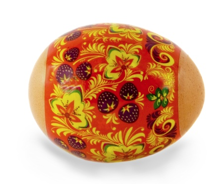 Easter painted egg Isolated over white background Stock Photo - 12359087
