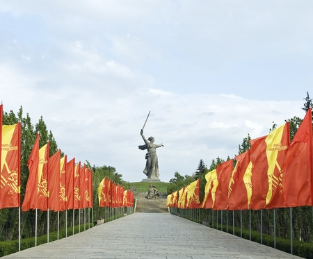 road warrior: Mamayev barrow Memorial in Volgograd  Stock Photo