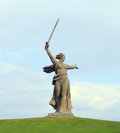 volgograd: Stone monument The Motherland Calls in Volgograd