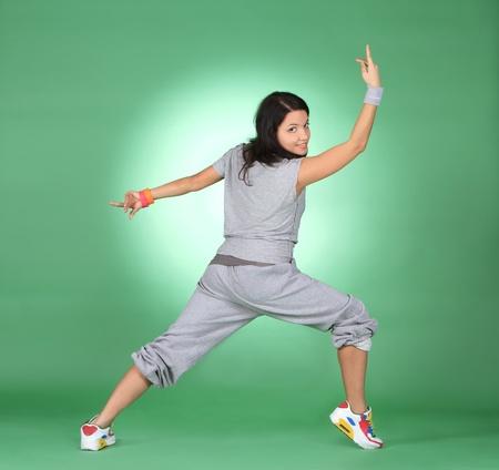 Beautiful athlete woman doing fitness exercise. Stock Photo - 12666591