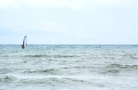 Kiteboarder enjoy surfing in the sea Stock Photo - 12781171