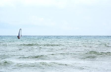 Kiteboarder enjoy surfing in the sea Stock Photo - 12781171