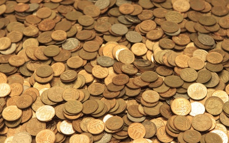 full frame background with mixed coins photo