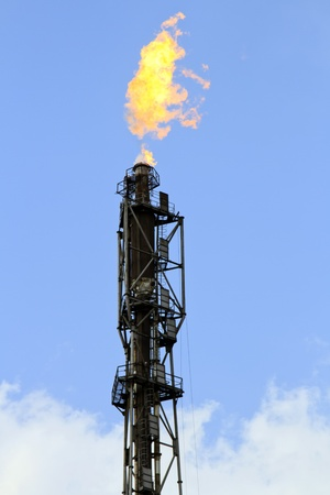 refinery fire gas torch Stock Photo - 13483832