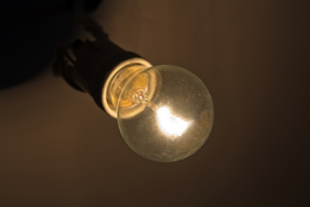 bright lamp in the dark Stock Photo - 13645857