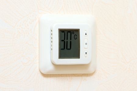 heating and cooling digital wall panel display