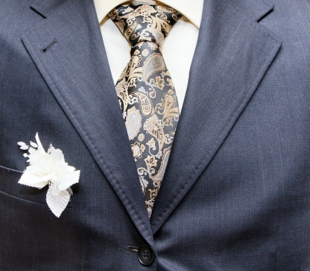 business formal wear with tie and suit photo