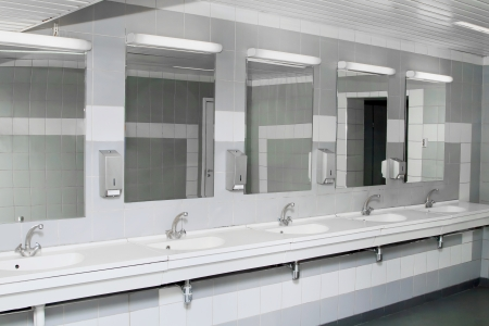 専用のトイレのインテリア 写真素材