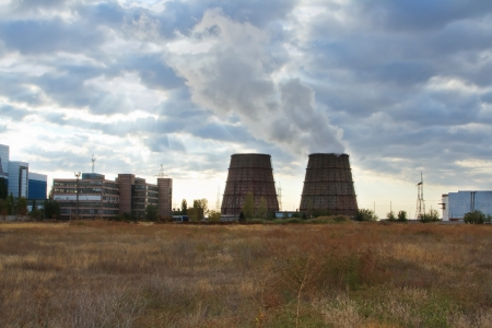cooling towers of an energy station Stock Photo - 16246412