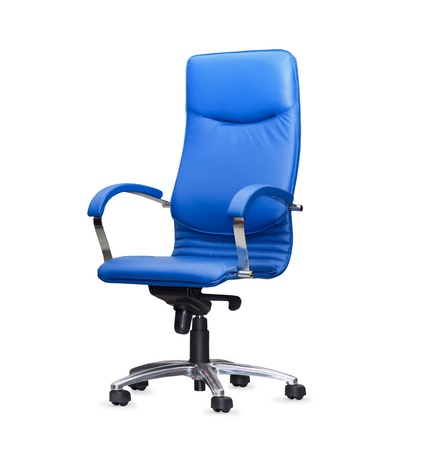 bue: The office chair from bue leather. Isolated Stock Photo