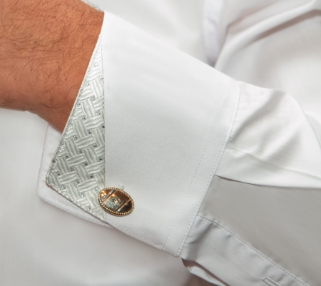 Shirt with cuff links photo